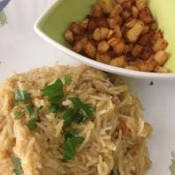 Sambar Rice and Potato Fry