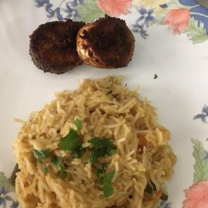 Fish Fry with Sambar Sadham