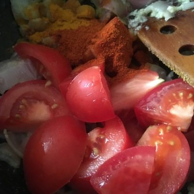 Add the Tomatoes and the powders