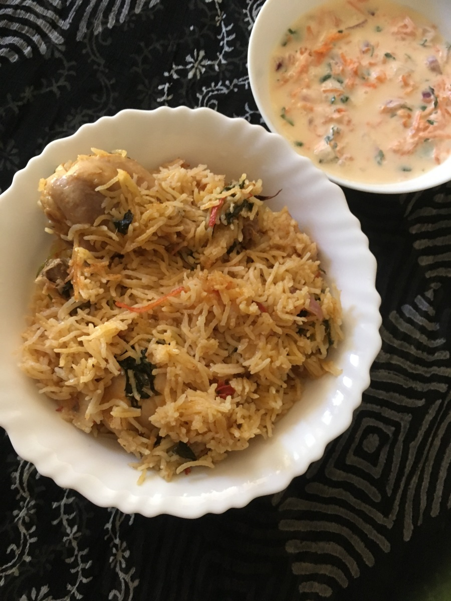 Chicken Biryani / Chicken Biryani in pressure cooker