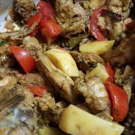 Add chopped tomatoes and potatoes