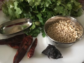 Red Chillies, Asafoetida, Urad Dhal, Tamarind, Coriander leaves