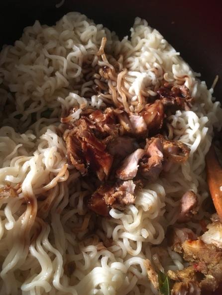 Add soya sauce and vinegar