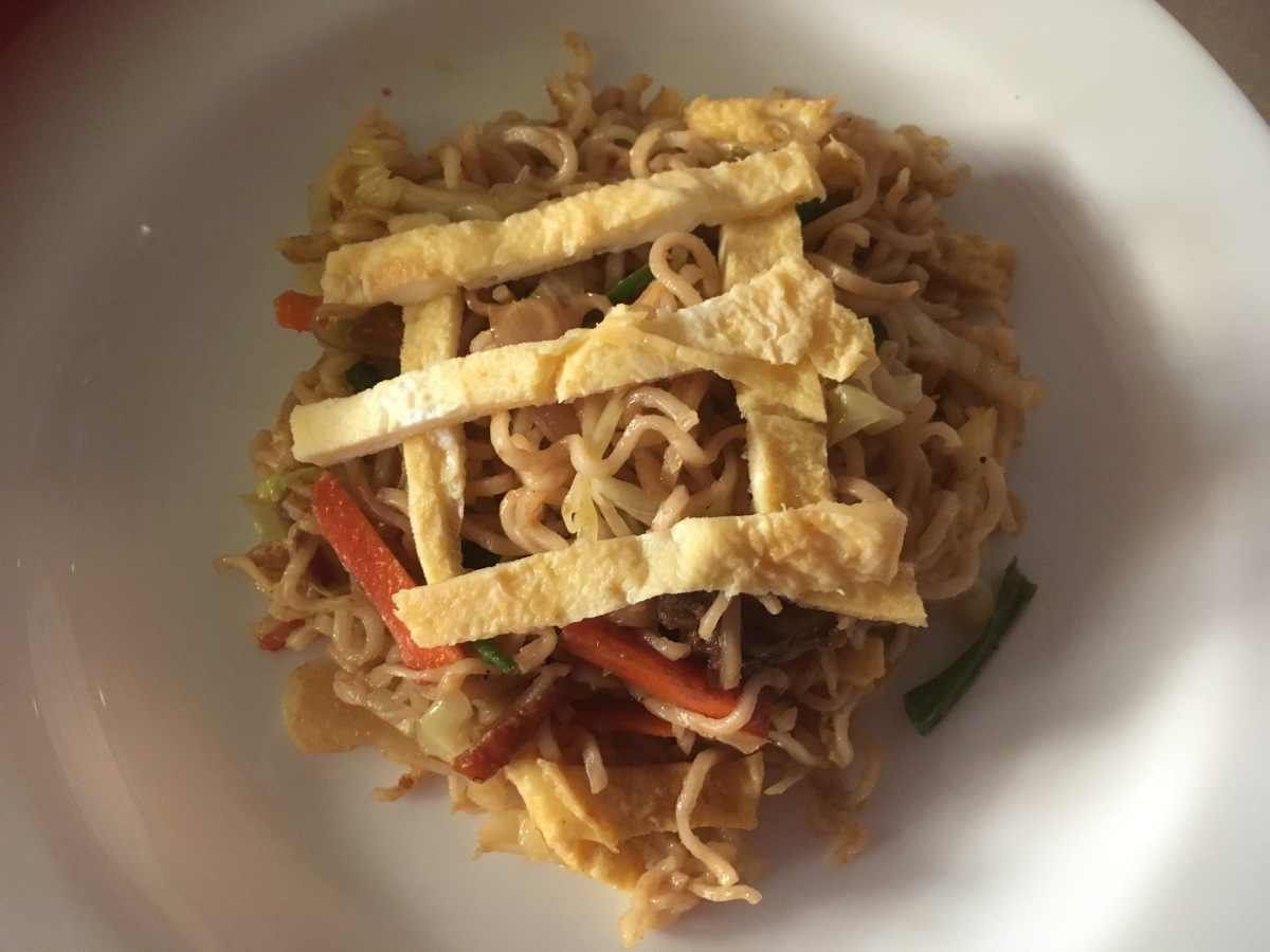 Maggi Noodles loaded with veggies and Egg