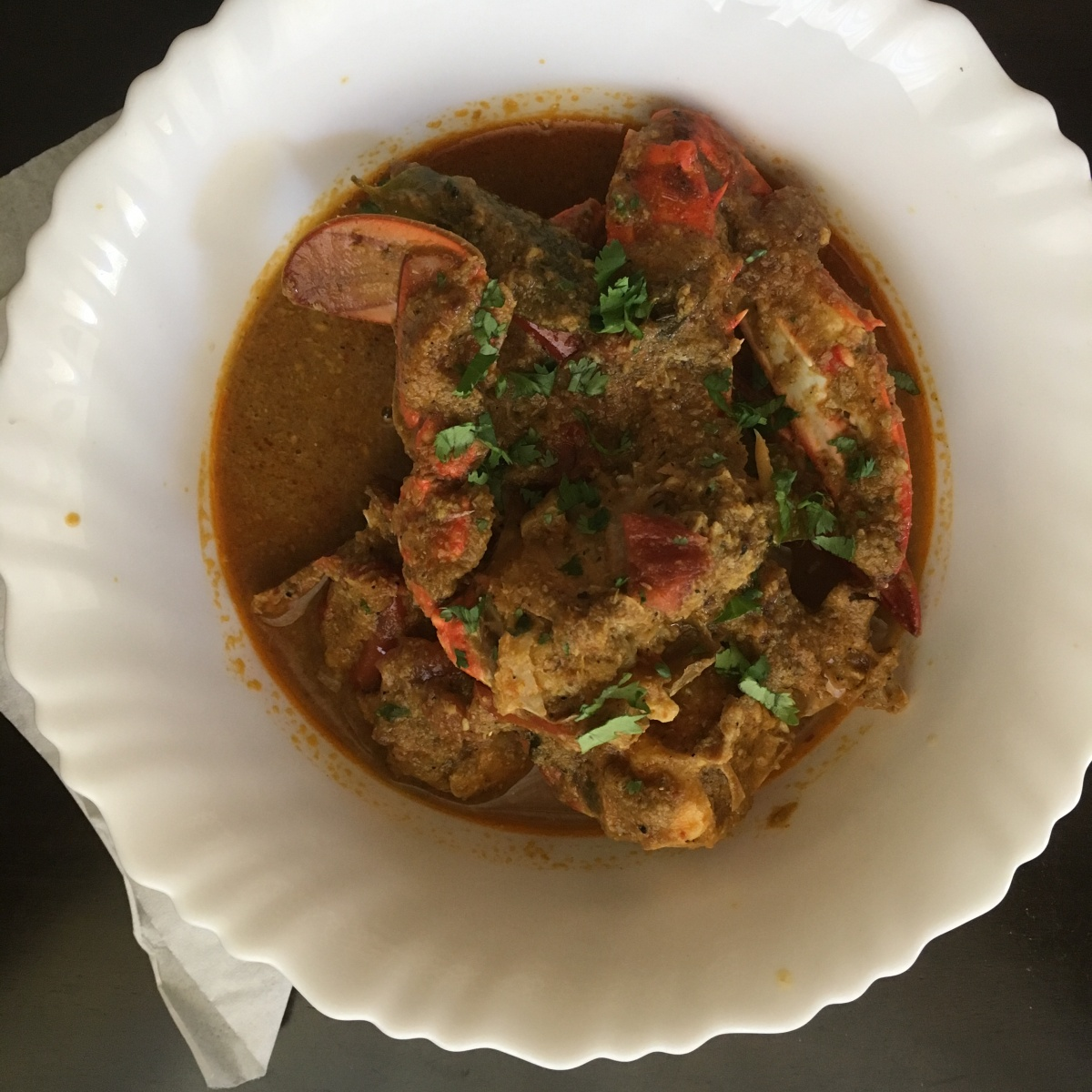 Pepper Crab Curry/ Nandu Kuzhambu