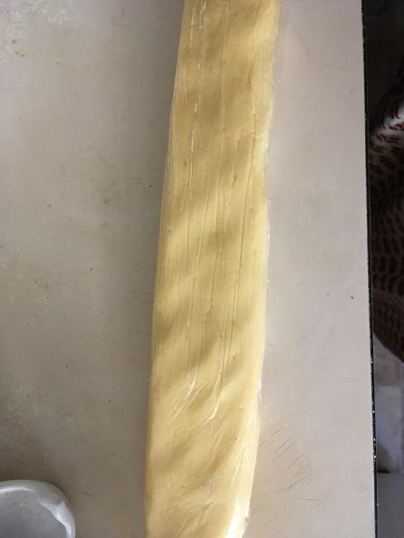 Form a log, wrap and refrigerate